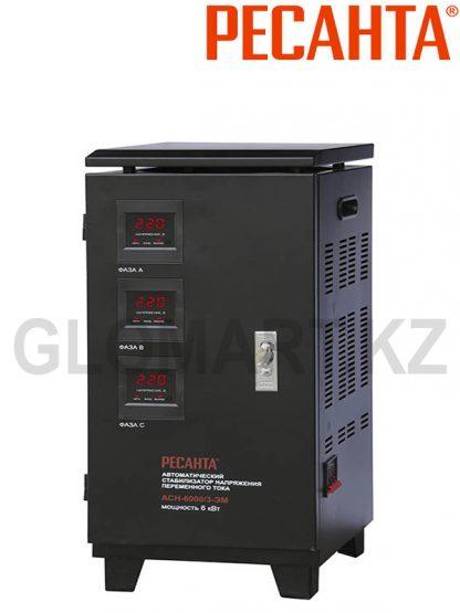 РЕСАНТА АСН-6000/3-ЭМ трехфазный электромеханический стабилизатор напряжения