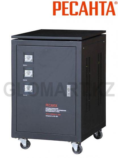 Мощный трехфазный стабилизатор Ресанта ACH-60000/3-ЭМ