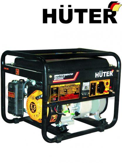 Бензогенератор HUTER DY2500L мощностью 2000 Вт, выходы - 220 В и 12 В