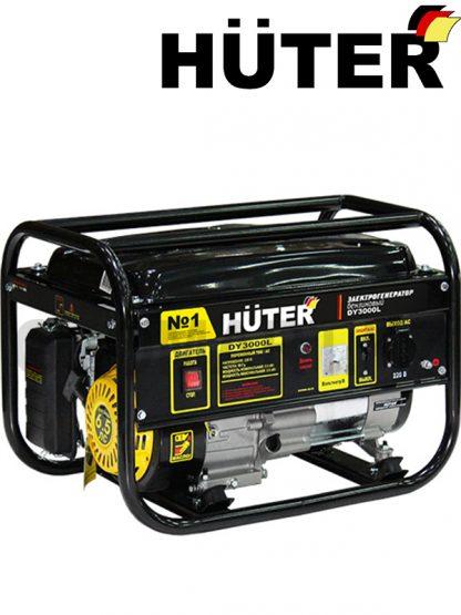 Бензиновый электрогенератор HUTER DY3000L, мощность 2500 Вт