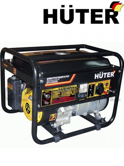 Бензиновый генератор HUTER DY4000L, выходы - 220 В и 12 В, мощность 3.2 кВт