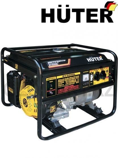 Бензиново газовый генератор HUTER DY5000L, мощность 4 кВт