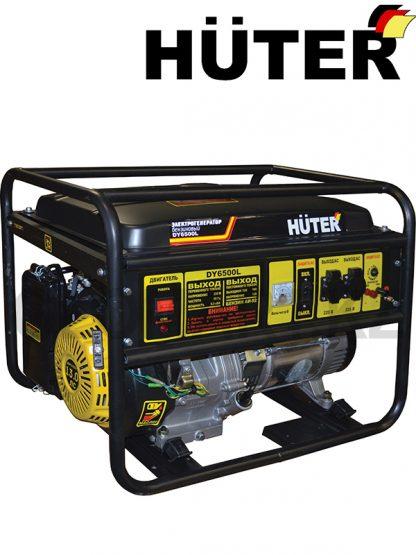 Генератор однофазный бензиновый HUTER DY6500L, мощность 5 кВт