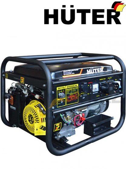 Электрогенератор HUTER DY6500LXA / АВР / электростартер / бензин / газ / 5 кВт
