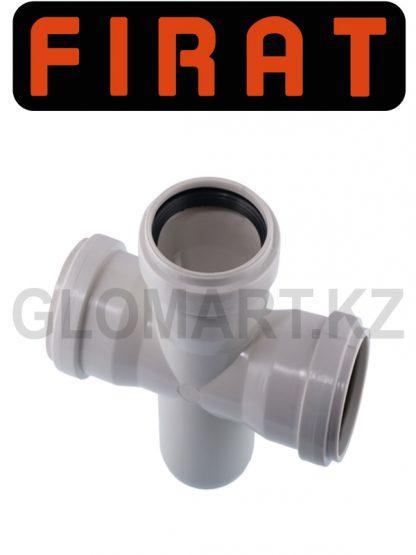 Крестовина канализационная прямая Firat, 50 мм