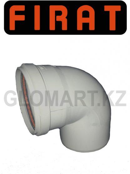 Отвод 90 канализационный Firat, 100 мм
