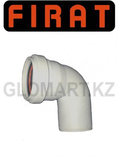 Отвод 90 канализационный Firat, 50 мм