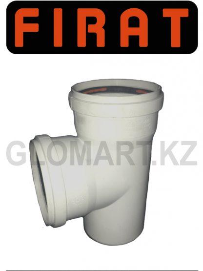 Тройник прямой канализационный Firat, 100 мм