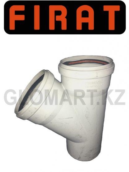 Тройник косой канализационный Firat, 100 мм