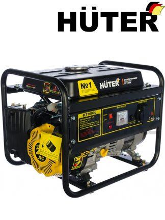 Бензиновый генератор HUTER HT1000L мощностью 1000 Вт, выходы - 220 В и 12 В