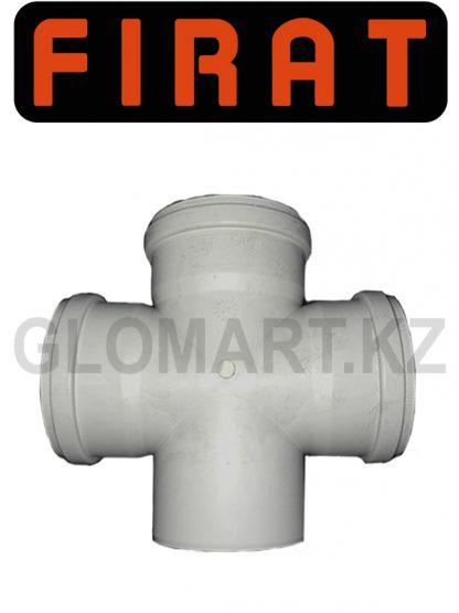 Крестовина канализационная прямая Firat, 100 мм