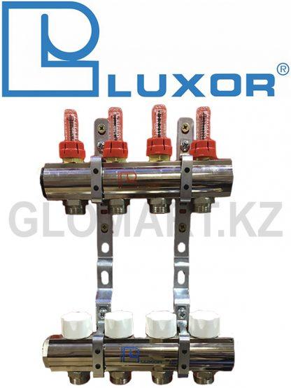 Коллектор с расходомерами 4 выхода Luxor