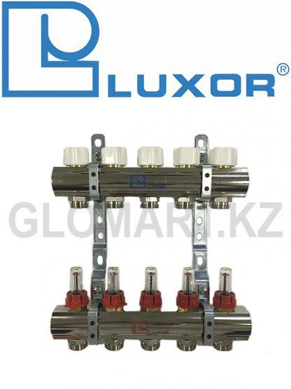 Коллектор с расходомерами 5 выходов Luxor