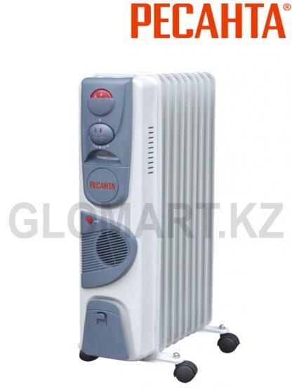 Масляный радиатор Ресанта ОМ-9НВ с вентилятором на 24 м2