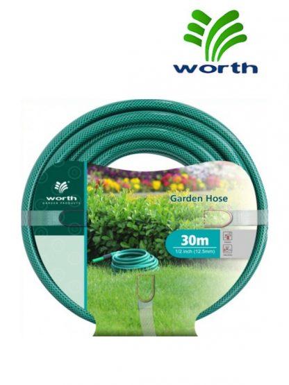 Трехслойный шланг для полива Worth Garden Hose / 30м / давление 12 бар / диаметр 19мм