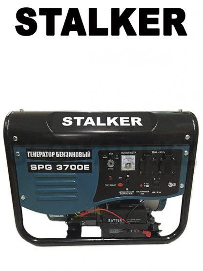 Генератор бензиновый с электростартером и аккумулятором STALKER SPG 3700E