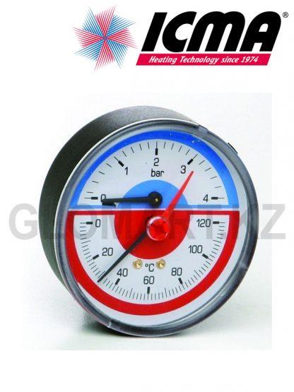 Термоманометр Icma 0-4 бар,0-120 °С