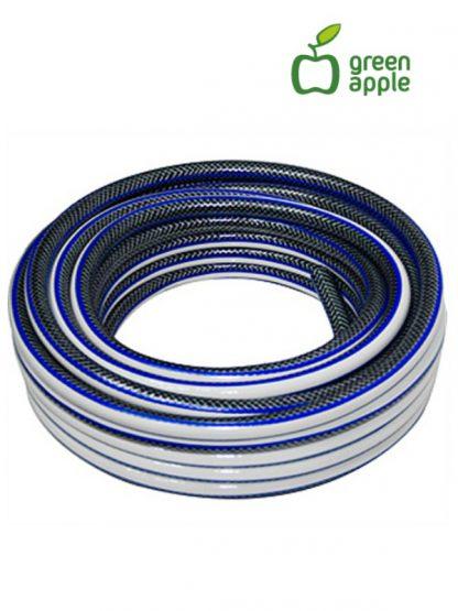 Усиленный 4-х слойный шланг для полива Green Apple 15м / 12Бар / 19мм