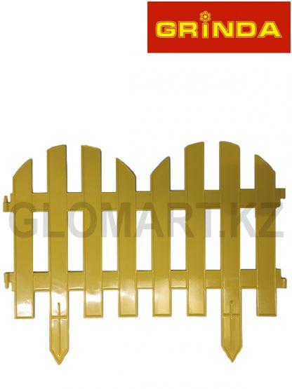 Забор декоративный GRINDA, 28x300см, желтый, 422205-Y