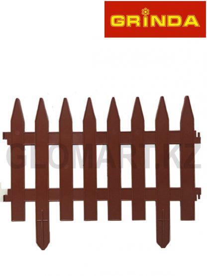Забор декоративный GRINDA, 28x300см, терракот, 422201-T