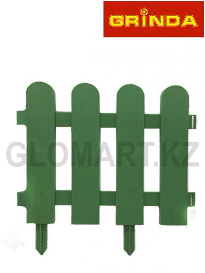 Забор декоративный GRINDA, 29x224см, зеленый, 422209-G